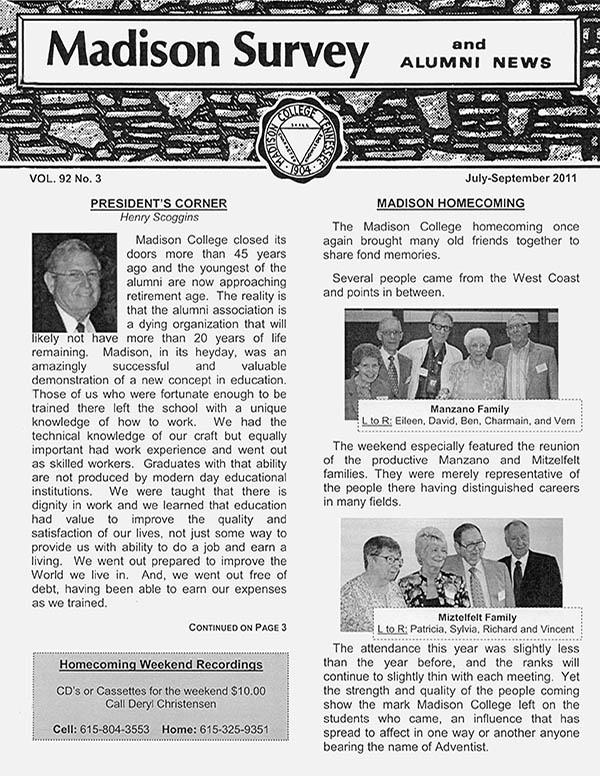 Madison Survey and Alumni News