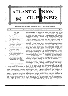 Atlantic Union Gleaner | September 16, 1903
