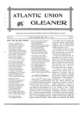 Atlantic Union Gleaner | May 25, 1904