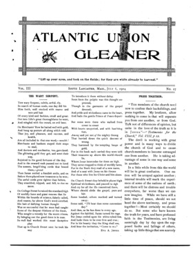 Atlantic Union Gleaner | July 6, 1904