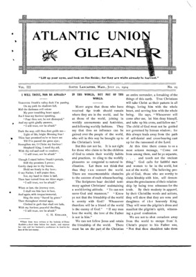 Atlantic Union Gleaner | July 20, 1904