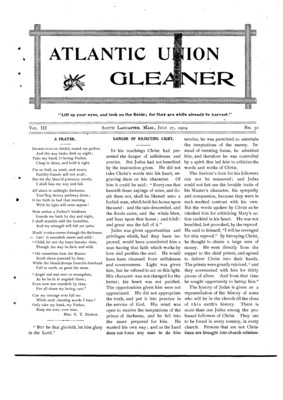 Atlantic Union Gleaner | July 27, 1904