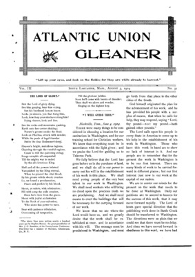Atlantic Union Gleaner | August 3, 1904