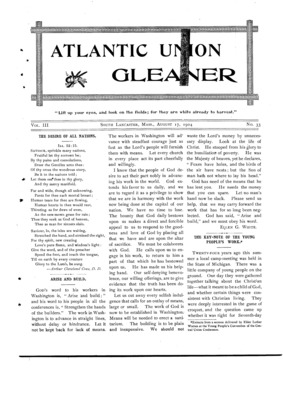 Atlantic Union Gleaner | August 17, 1904
