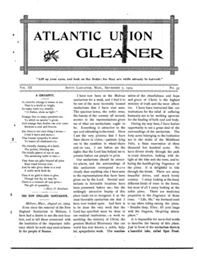 Atlantic Union Gleaner | September 7, 1904