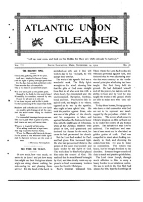 Atlantic Union Gleaner | September 14, 1904