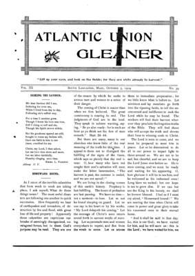 Atlantic Union Gleaner | October 5, 1904
