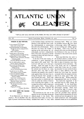 Atlantic Union Gleaner | October 26, 1904