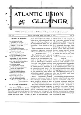 Atlantic Union Gleaner | November 2, 1904