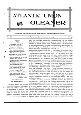 Atlantic Union Gleaner | November 16, 1904