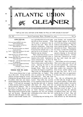 Atlantic Union Gleaner | November 30, 1904
