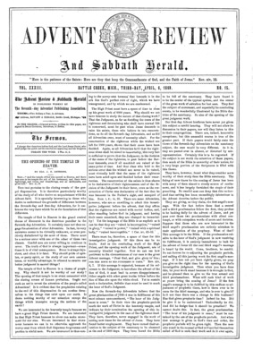 fc4ae0f37 Advent Review, and Sabbath Herald | April 6, 1869