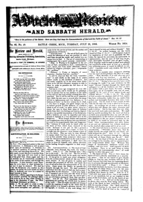 3c9448a6 Advent Review, and Sabbath Herald | July 21, 1885