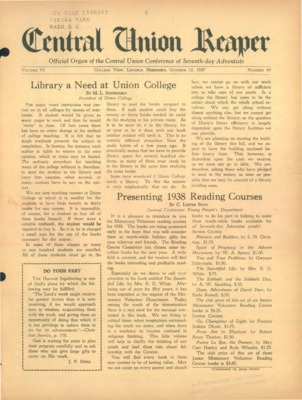 The Central Union Reaper | October 12, 1937