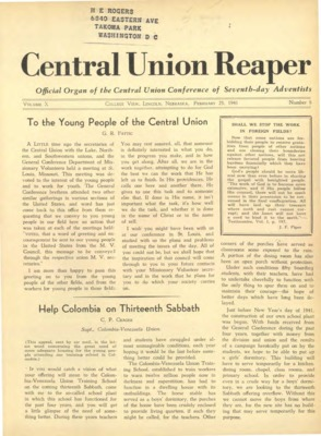 The Central Union Reaper | February 25, 1941