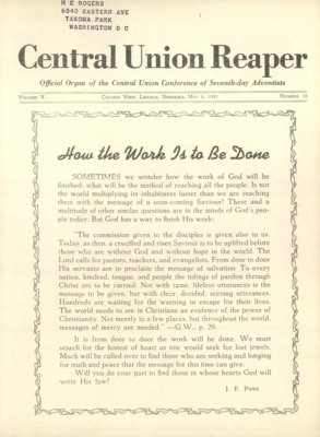 The Central Union Reaper | May 6, 1941