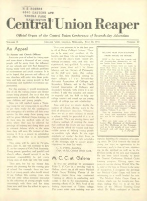 The Central Union Reaper | May 20, 1941