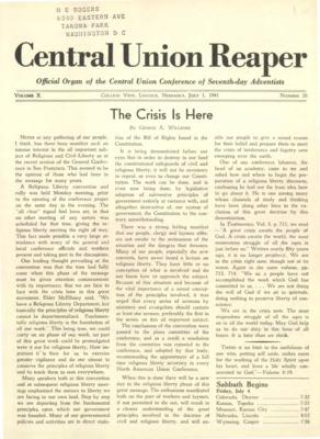 The Central Union Reaper | July 1, 1941
