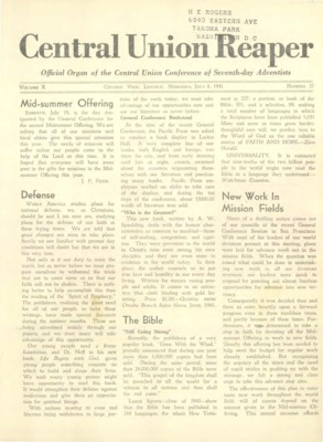 The Central Union Reaper | July 8, 1941