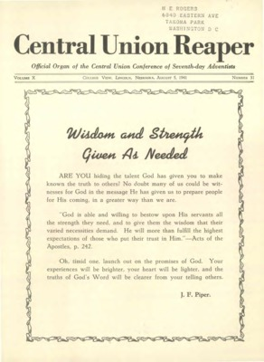 The Central Union Reaper | August 5, 1941
