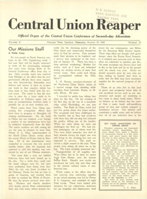 The Central Union Reaper | August 19, 1941