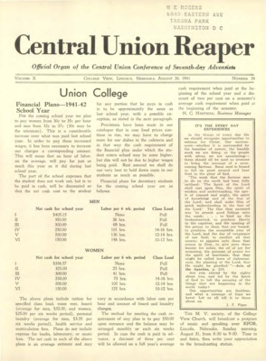 The Central Union Reaper | August 26, 1941