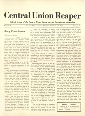The Central Union Reaper | September 16, 1941