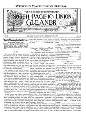 premium selection b7289 bc207 North Pacific Union Gleaner   February 28, 1918