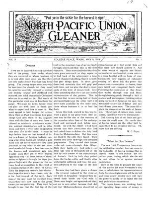b5416b4f North Pacific Union Gleaner   May 9, 1918