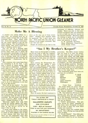 b9ea6cf47 North Pacific Union Gleaner | October 21, 1957
