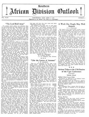 e11fb412654 The Southern African Division Outlook | April 9, 1945